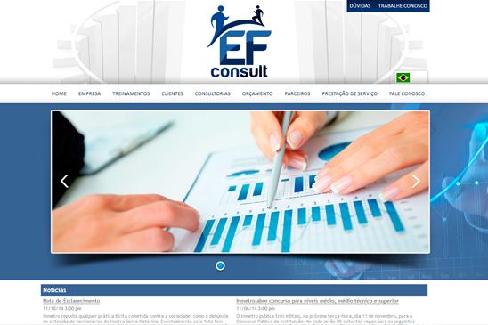 A EF Consult, empresa de consultoria técnica para implantação de Sistema de Gestão, Certificação de Produtos e treinamentos, iniciou suas atividades no ano de 2012, acreditando no potencial de crescimento do mercado nacional.