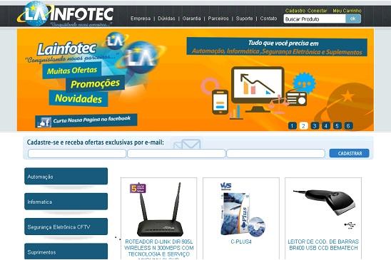 A LAINFOTEC está no mesmo endereço desde sua fundação em 2002, a mais de uma década estamos atuando em vendas de equipamentos nos setores de informática, segurança eletrônica (cftv), e automação comercial no qual ficamos certificados entre as melhores 50 revendas Metrologic do Brasil.